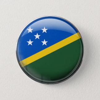 Solomon Islands Flag Pinback Button