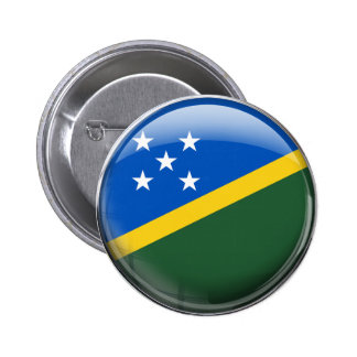 Solomon Islands Flag Pinback Button