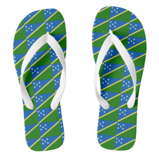 Solomon Islands Flag --.png Flip Flops