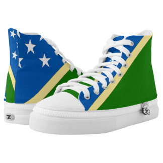 Solomon Islands Flag --.png High-Top Sneakers