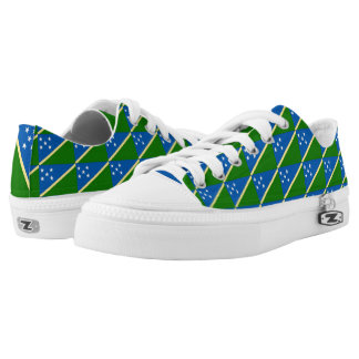 Solomon Islands Flag --.png Low-Top Sneakers
