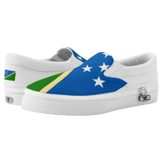 Solomon Islands Flag --.png Slip-On Sneakers