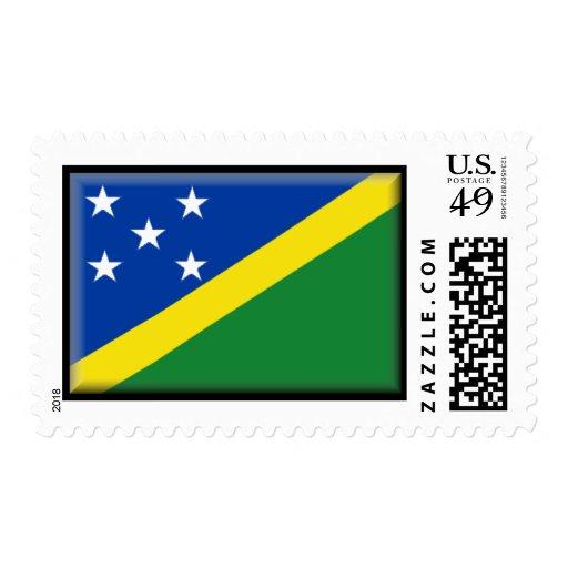 Solomon Islands Flag Postage Stamp