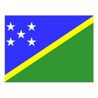 Solomon Islands Flag Postcard