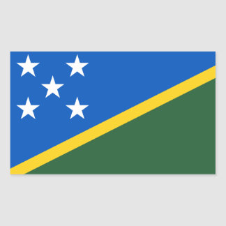 Solomon Islands Flag Rectangular Sticker