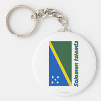 Solomon Islands Flag with Name Keychain