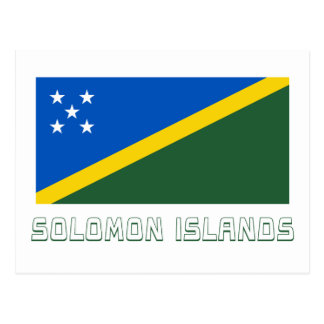 Solomon Islands Flag with Name Postcard