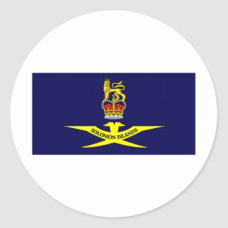 Solomon Islands Governor General Flag Classic Round Sticker
