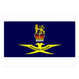 Solomon Islands Governor General Flag Postcard