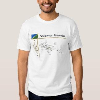 Solomon Islands Map + Flag + Title T-Shirt