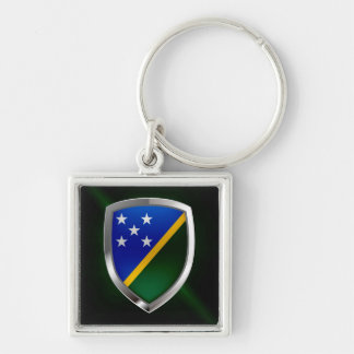 Solomon Islands Metallic Emblem Keychain
