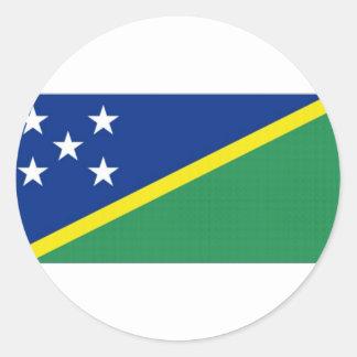 Solomon Islands National Flag Classic Round Sticker