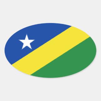Solomon Islands Oval Sticker