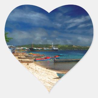 Solomon Islands Heart Stickers