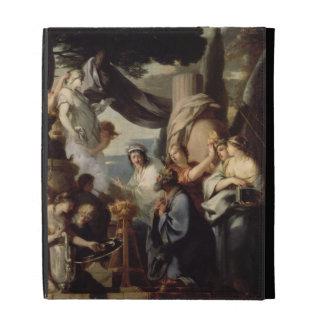 Solomon making a sacrifice to the idols iPad case