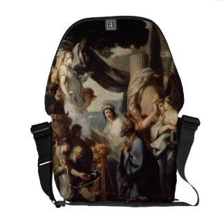 Solomon making a sacrifice to the idols courier bag