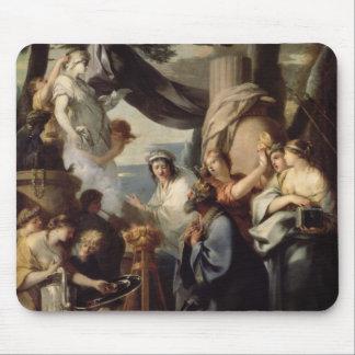 Solomon making a sacrifice to the idols mouse pad