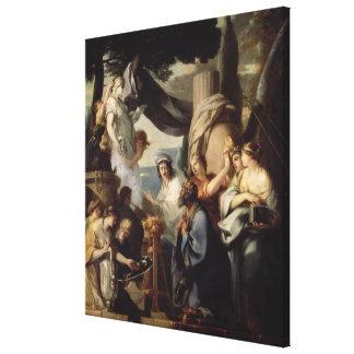 Solomon que hace un sacrificio a los ídolos lona estirada galerias
