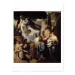 Solomon que hace un sacrificio a los ídolos tarjeta postal