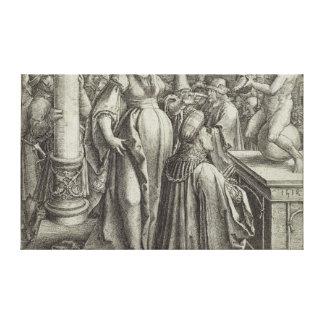 Solomon ruega delante de una imagen grabada, c.151 lona envuelta para galerías
