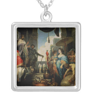 Solomon y la reina de Sheba Colgante Cuadrado