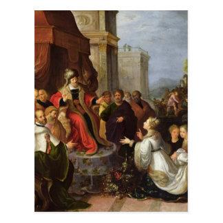 Solomon y la reina de Sheba Tarjeta Postal