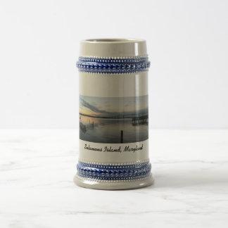 Solomons Island, Maryland Panoramic 18 Oz Beer Stein