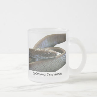 Solomon's Tree Snake Frosted Glass Mug