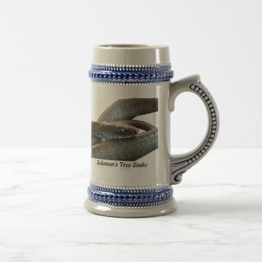 Solomon's Tree Snake Stein 18 Oz Beer Stein