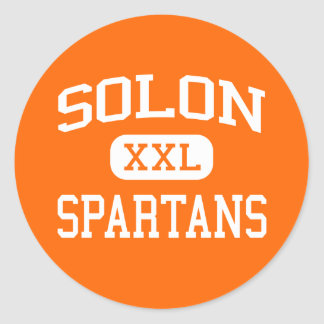 Solon - Spartans - High School secundaria del Pegatinas Redondas