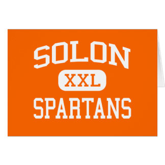Solon - Spartans - High School secundaria del Solo Tarjetas