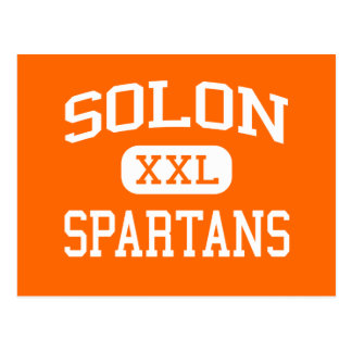 Solon - Spartans - High School secundaria del Solo Tarjeta Postal