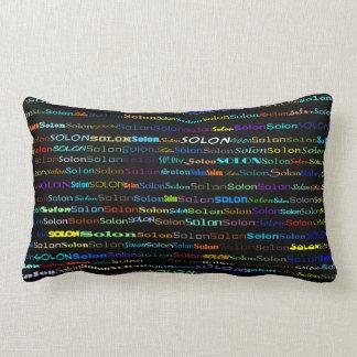 Solon Text Design I Lumbar Pillow