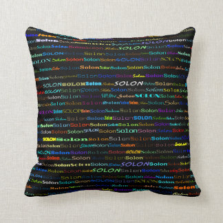 Solon Text Design I Throw Pillow