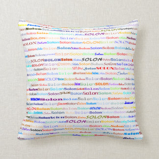 Solon Text Design II Throw Pillow
