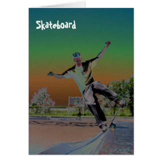 Solorized skateboarder  greeting cards