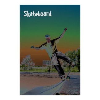 Solorized skateboarder  poster