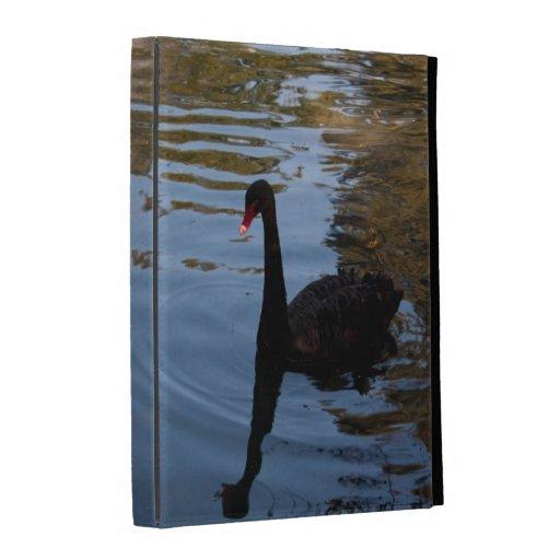 Solos caso en folio del iPad 3 del cisne negro