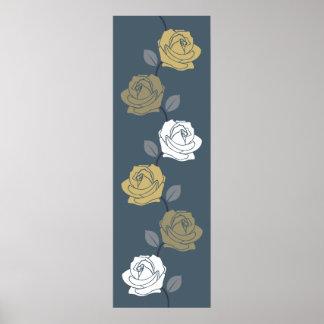 Solos oros color de rosa de los azules de Ptn de Posters