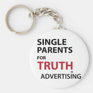 Solos padres para la verdad en la publicidad llavero redondo tipo pin
