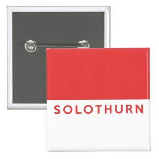 Solothurn province Switzerland swiss flag region Pinback Button