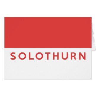 Solothurn province Switzerland swiss flag region Greeting Cards
