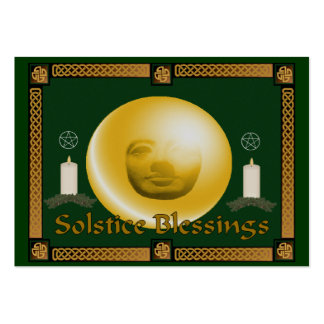 Solstice Blessings Business Card