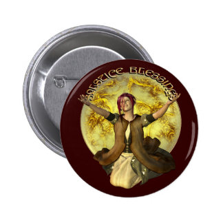 Solstice Blessings 2 Inch Round Button