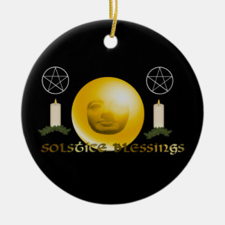 Solstice Blessings Ceramic Ornament