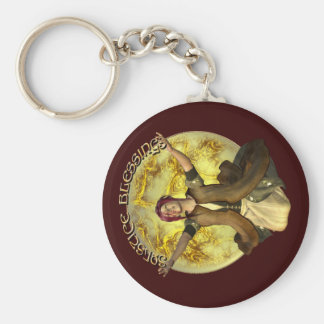 Solstice Blessings Keychain