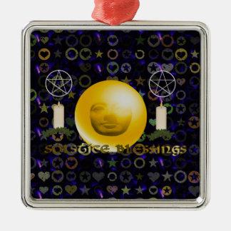 Solstice Blessings Metal Ornament