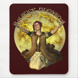 Solstice Blessings Mouse Pad