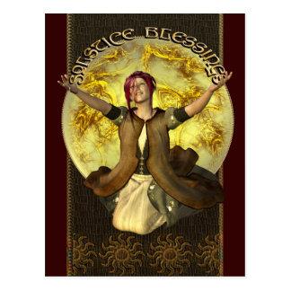 Solstice Blessings Postcard