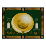 Solstice Blessings Poster